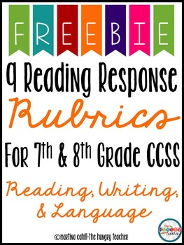 Middle School Reading Rubric Writing Rubric Language Rubric