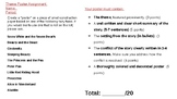 Middle School Reading Theme Poster Project Outline/Rubric