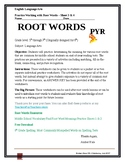 Middle School Root Word Practice Sheets 3 & 4