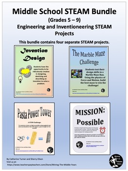 Middle School STEAM Bundle - Design and Engineering Projects