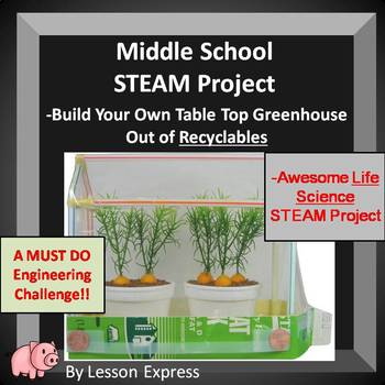 Greenhouse STEAM Project -- Design + Build Your Own Table Top Greenhouse