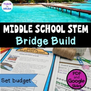 Middle School STEM Task, STEAM Challenge: Bridge Build