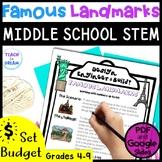 Middle School STEM Task, STEAM Challenge: Famous Landmarks