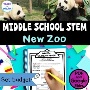 Middle School STEM Task, STEAM Challenge: New Zoo