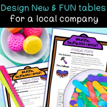 Middle School STEM Task, STEAM Challenge: Table Tops