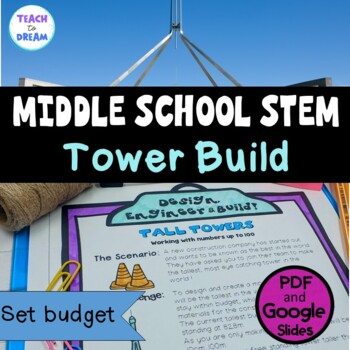 Middle School STEM Task, STEAM Challenge: Tall Towers