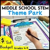 Middle School STEM Task, STEAM Challenge: Theme Park, Dist