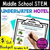 Middle School STEM Task, STEAM Challenge: Underwater Oasis