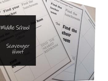 Middle School Scavenger Hunt