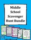 Middle School Scavenger Hunt Game Bundle