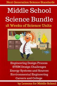 Science - Middle School Bundle of Science Units, 18 Weeks