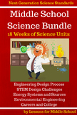 Science - Middle School Bundle of Science Units, 18 Weeks