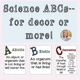 Middle School Science ABCs--for decor or more!