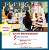 Back To School Middle School Science Bundle