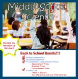 Back To School Middle School Science Bundle