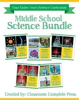 Middle School Science Bundle Gr. 5-8