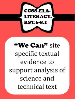 Middle School Science CCSS