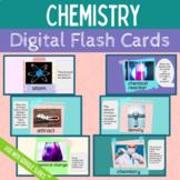 Middle School Science Chemistry Vocabulary Digital Flash Cards