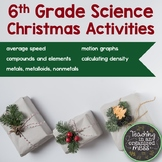Middle School Science Christmas Activities- Low Prep