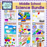 Middle School Science Clip Art Bundle - 488 graphics