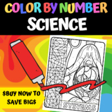 Middle School Science - Color By Number BUNDLE