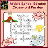 Science Crossword Puzzles : Chemistry, Biology, Geology, A