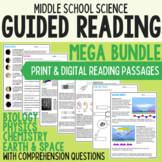 Middle School Science Guided Reading Mega Bundle