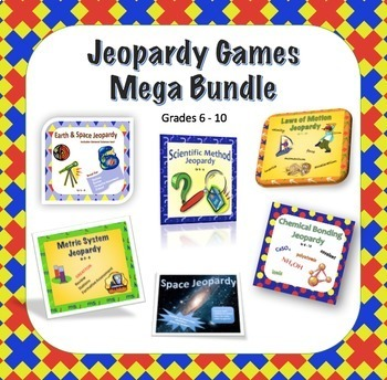 Middle School Science Jeopardy Games Bundle