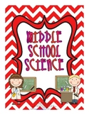 Middle School Science - Posters, Printables, Back to School Ideas
