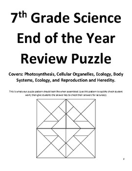 Middle School Science Review Puzzle