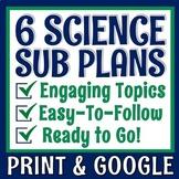Middle School Science Sub Plan Set