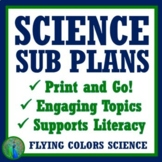 Middle School Science Sub Plan Set (PDF and Digital)