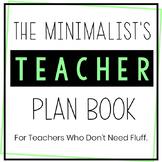 Middle School Science Teacher Planner 2018-2019 - No Fuss