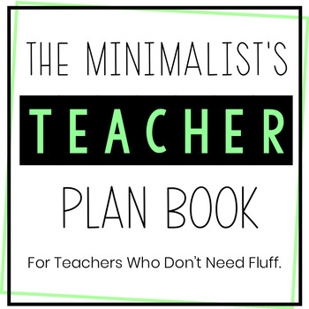 Middle School Science Teacher Planner 2018-2019 - No Fuss - Updates for Life