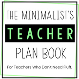 Middle School Teacher Planner 2018-2019 - Minimalist - Upd
