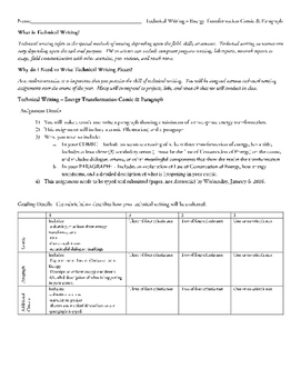 Middle School Science Technical Writing Bundle