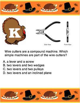 Thanksgiving Scavenger Hunt - Simple Machines