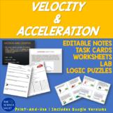 Middle School Science Velocity & Acceleration Bundle