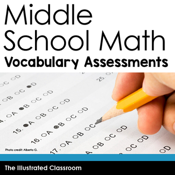 Middle School Math Vocabulary Assessments