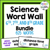 Middle School Science Vocabulary Word Wall: 6, 7, 8 Grade Bundle: 478 Words!