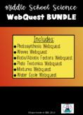 Middle School Science Webquests BUNDLE