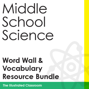 Middle School Science Word Wall, Crosswords, and Assessments Bundle