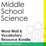 Middle School Science Word Wall, Crosswords, and Assessmen