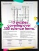Middle School Science Worksheets Vocabulary Crossword Puzzles