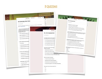 Middle School Short Stories & Quizzes to Review Standards RL1 - RL4
