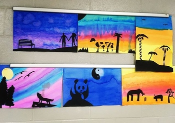 Middle School Silhouette Art Project