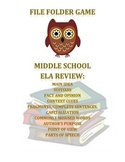 PSSA skill review -- File Folder Game