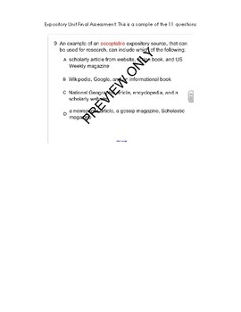 Expository Research Unit Smart Response Clicker Quiz