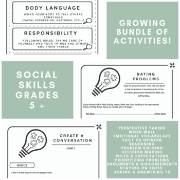 Social Skills GROWING Bundle for Speech Therapy