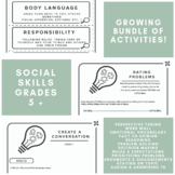 #oct2018slpmusthave Social Skills GROWING Bundle for Speech Therapy